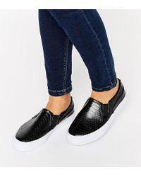 ASOS - Dulcie Wide Fit Slip On Sneakers - Lyst