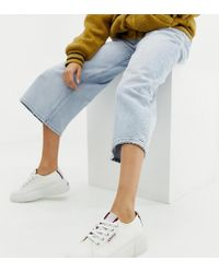 Superga - 2297 Exclusive White Chunky Sneakers With Stripe Webbing - Lyst