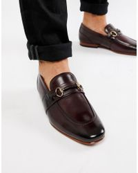 Ted Baker - Daiser Bar Loafers In Burgundy Leather - Lyst