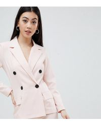Missguided - Double Breasted Blazer - Lyst