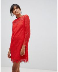 Oasis - Broderie Lace Shift Dress - Lyst