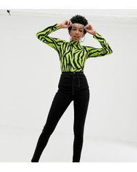 Collusion - Tall Skinny Jeans In Black - Lyst