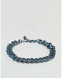 ASOS - Chunky Chain Bracelet In Iridescent Finish - Lyst