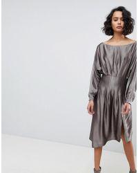 AllSaints - Metallic Dress - Lyst