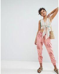 Billabong - Floral Beach Trousers - Lyst