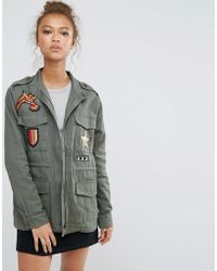 B.Young - High Neck Jacket With Badges - Lyst