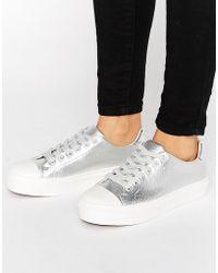 Blink - Soft Toecap Lace Up Sneaker - Lyst