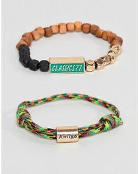 Classics 77 - Cord & Beaded Bracelet In Multi - Lyst