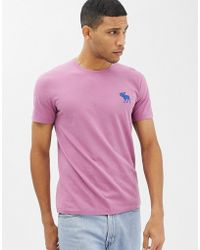 Abercrombie & Fitch - Large Icon Logo T-shirt In Dark Pink - Lyst