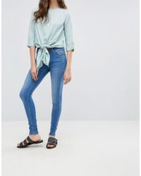 Pieces - Five Betty Skintight Jeans - Lyst