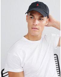 prezzo abbordabile consegna veloce qualità Cappellino nero con logo a giocatore rosso