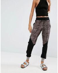 Y.A.S - Leopard Sweat Pants - Lyst