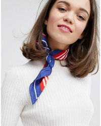 Monki - Lightweight Stripe Neck Tie - Lyst