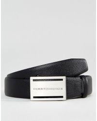 Hilfiger Denim - Tommy Plaque Leather Belt - Lyst