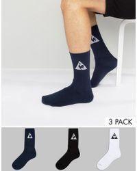 Le Coq Sportif - 3 Pack Crew Socks In Multi 1611114 - Lyst