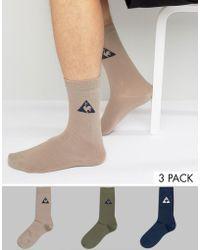 Le Coq Sportif - 3 Pack Crew Socks In Multi 1710527 - Lyst