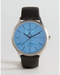 French Connection - Tinted Glass Watch With Leather Strap - Lyst