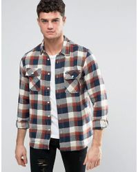 RVCA - Flannel Shirt With Flap Pockets - Lyst