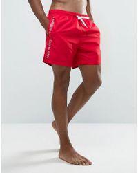 CALVIN KLEIN 205W39NYC - Id Logo Tape Swim Shorts - Lyst