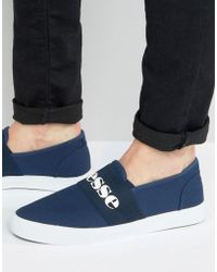 Ellesse - Canvas Sneakers With Strap - Lyst