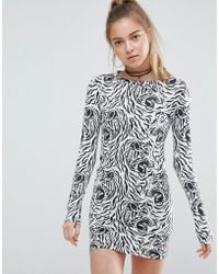 Illustrated People - Animal Print Bodycon Dress - Lyst