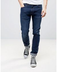 Casual Friday - Slim Fit Jeans In Indigo - Lyst