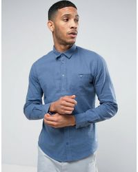 Casual Friday | Linen Mix Shirt With Pocket | Lyst