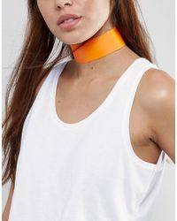 New Look - Wide Plastic Choker Necklace - Lyst