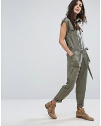 Abercrombie & Fitch - Zip-front Utility Jumpsuit - Lyst