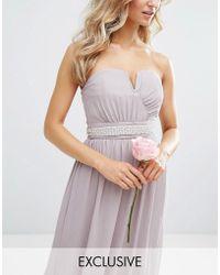 TFNC London - Wedding Embellished Diamond Sash Belt - Lyst
