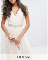 TFNC London - Wedding Slim Sash Belt With Pretty Embellishment - Lyst