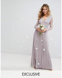 Tfnc long-sleeve embellished mini dress