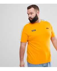 Ellesse - T-shirt With Sleeve Taping In Orange - Lyst