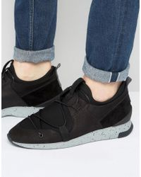 H by Hudson - Brodie Suede Trainers - Lyst