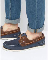 Tommy Hilfiger - Knot Nubuck Boat Shoes - Lyst