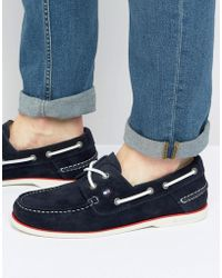Tommy Hilfiger - Knot Suede Boat Shoes - Lyst