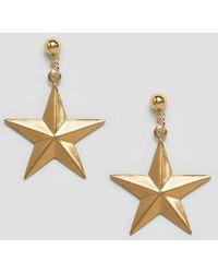 Rock N Rose - Rock N Rose Erica Brass Star Earrings - Lyst