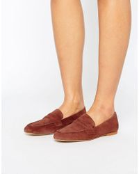 Vero Moda - Leather Soft Loafer - Lyst