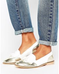 Vero Moda - Metallic Trim Loafer - Lyst