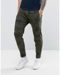 Abercrombie & Fitch - Slim Fit Cuffed Mesh Textured Joggers In Camo Print - Lyst