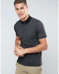 Mango - Man Polo Shirt In Black - Lyst