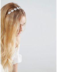 New Look - Flower Jewelled Headband - Lyst