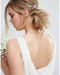LoveRocks London - Delicate Flower Cluster Hair Drape - Lyst