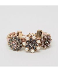 ALDO | Floral Statement Cuff Bracelet | Lyst