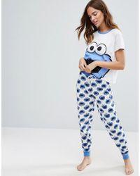 Missimo - Cookie Monster Pyjama Set - Lyst