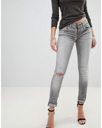 Replay - Luz Rip Knee Skinny Jeans - Lyst