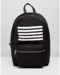 New Look - Backpack With Stripe Print In Black - Lyst