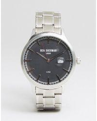 Ben Sherman - Wb056bsm Bracelet Watch In Silver - Lyst