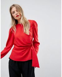 ASOS - Asos Long Sleeve Blouse With Origami Detail - Lyst