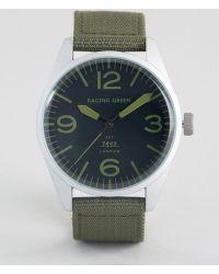 Racing Green - Nylon Strap Watch In Green - Lyst